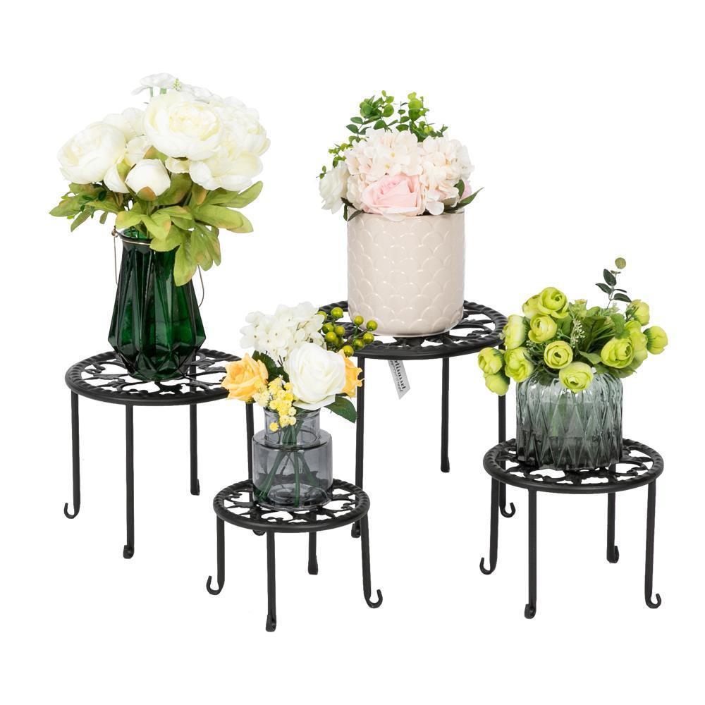 Metal Wrought Iron Outdoor Indoor Pot Plant Stand Garden Decor Flower Rack