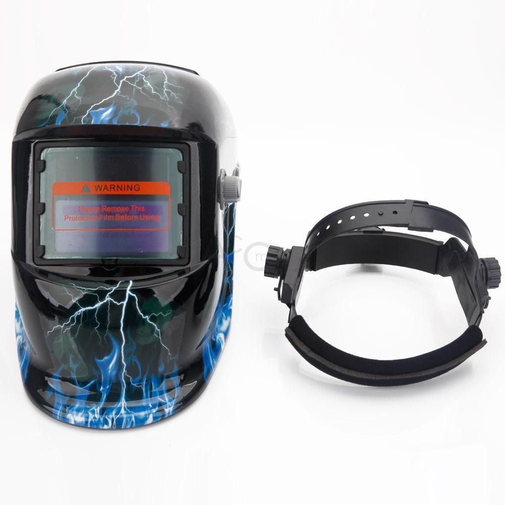 NewXDH Auto Darkening Welding Helmet+Grinding Skull Hood Mask welder Flame DH-A
