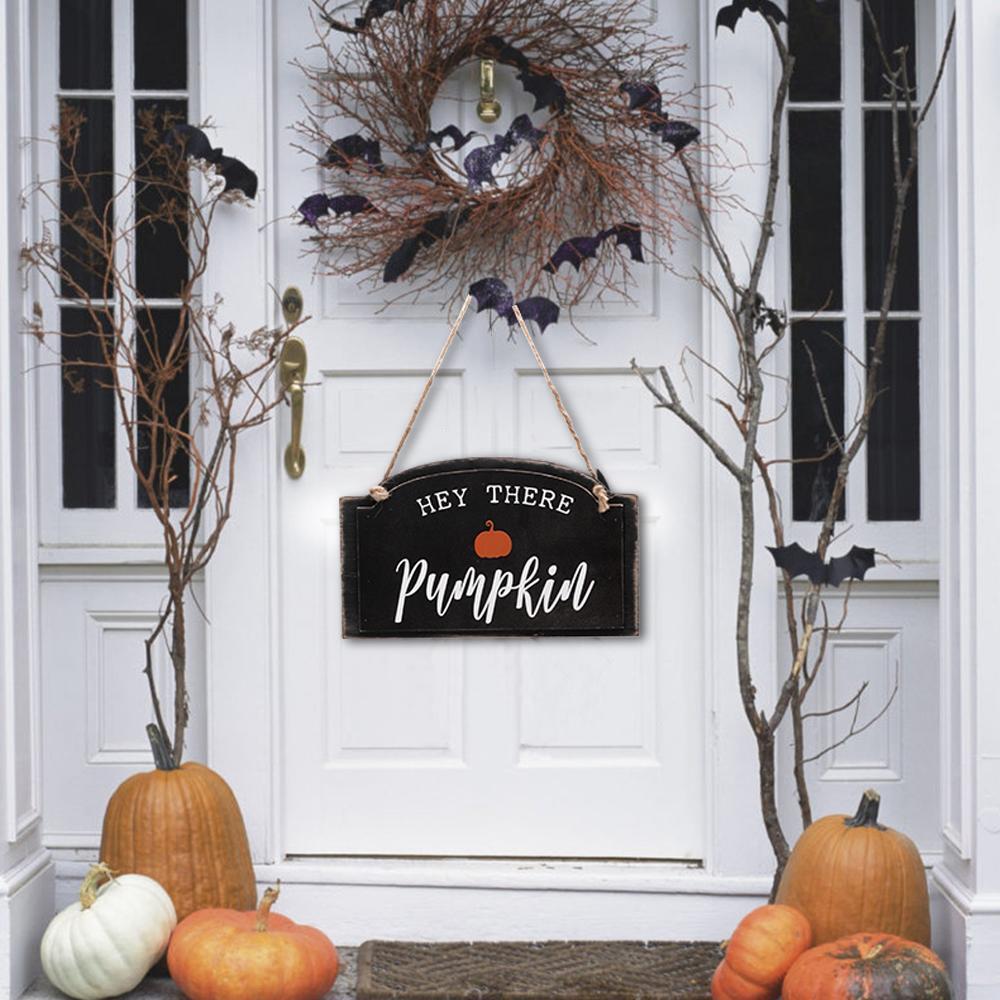 Halloween Door Hanger Pumpkin Door Hanger Reversible