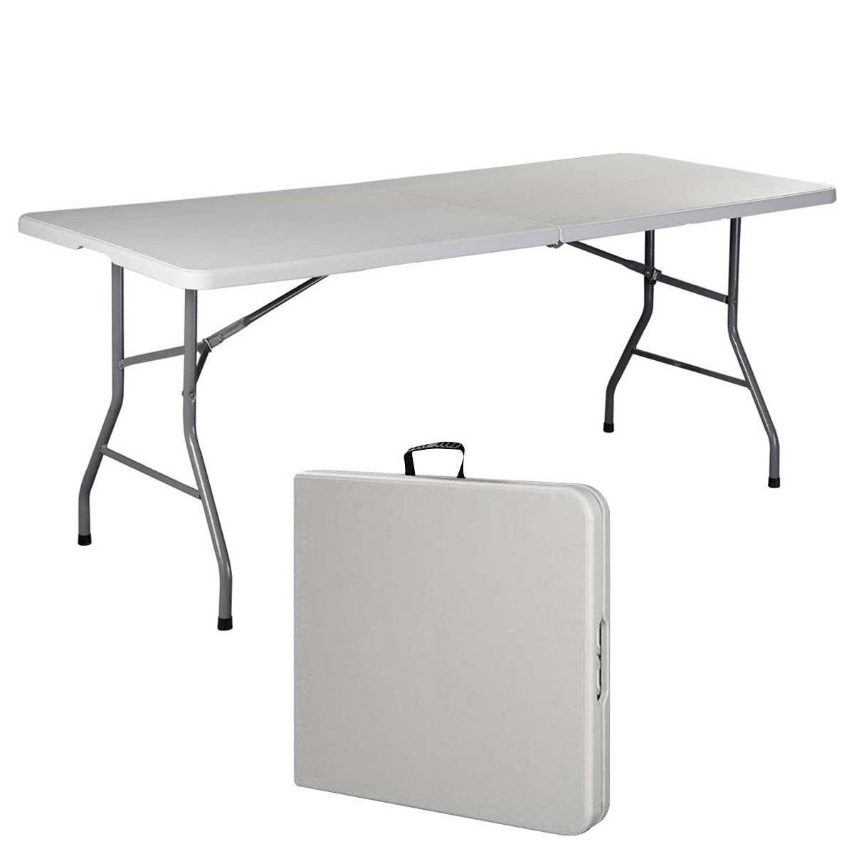 6 Ft Folding Table New Office Centerfold Plastic Home Patio Party Garden Ebay