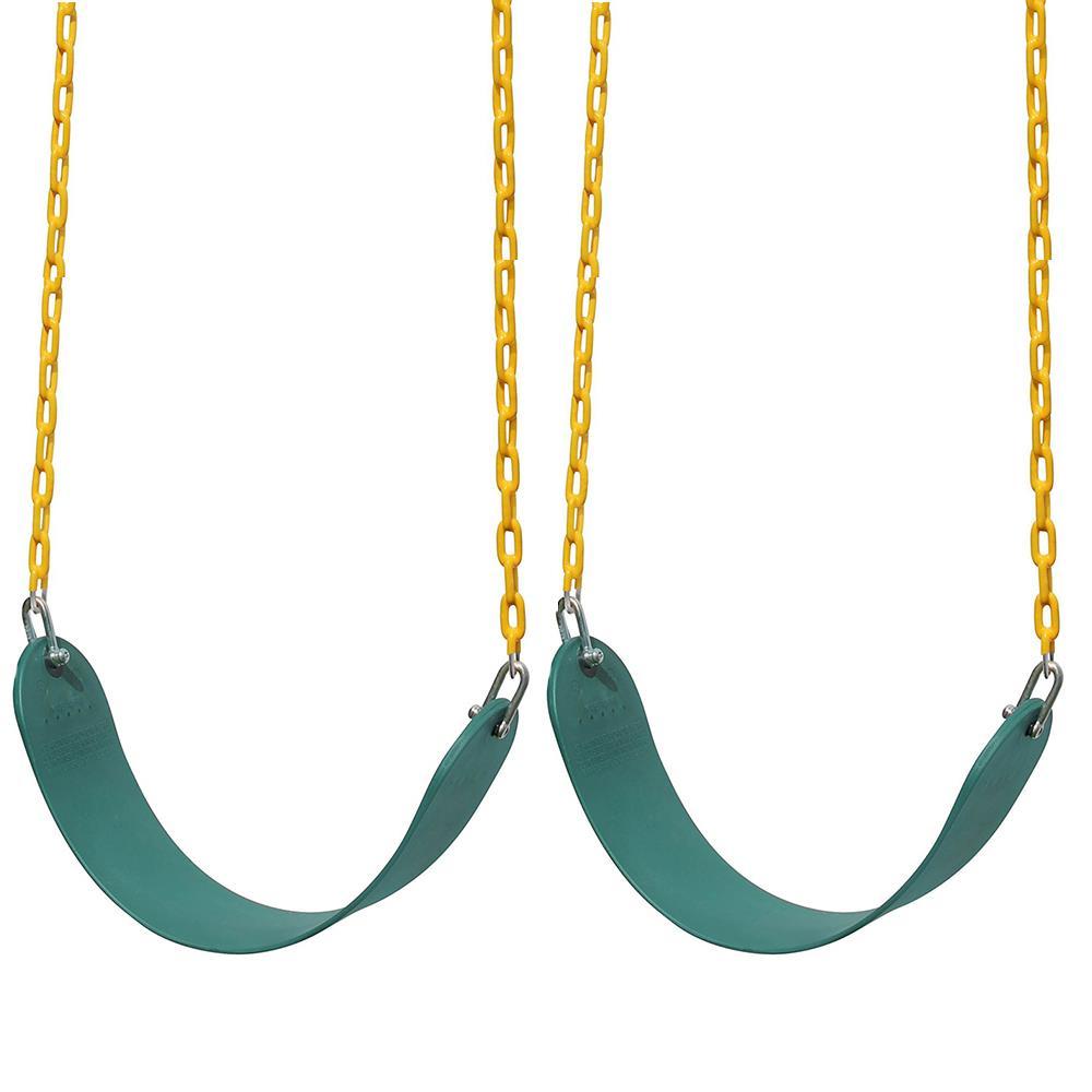 2x Blue U Shape Heavy Duty Swing Seat Swing Set Accessories Replacement Outdoor