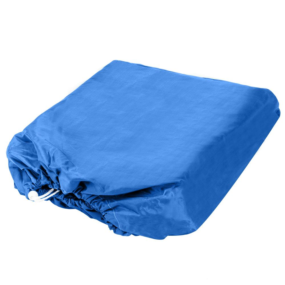 25-28 Ft Waterproof Heavy Duty 600D Fabric Trailerable Pontoon Boat Cover Blue