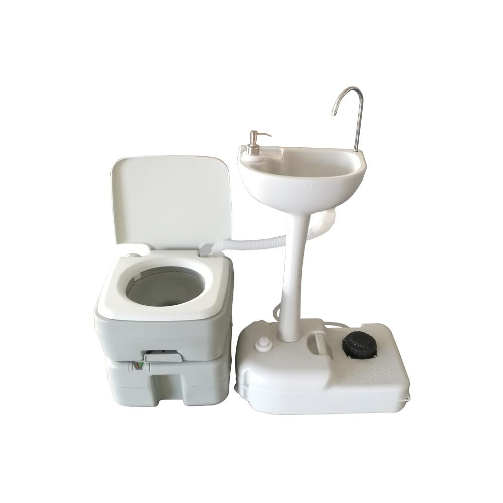 20L Multi-use Travel Camping Toilet Flush Porta Potti Pump WC Indoor Outdoor UK