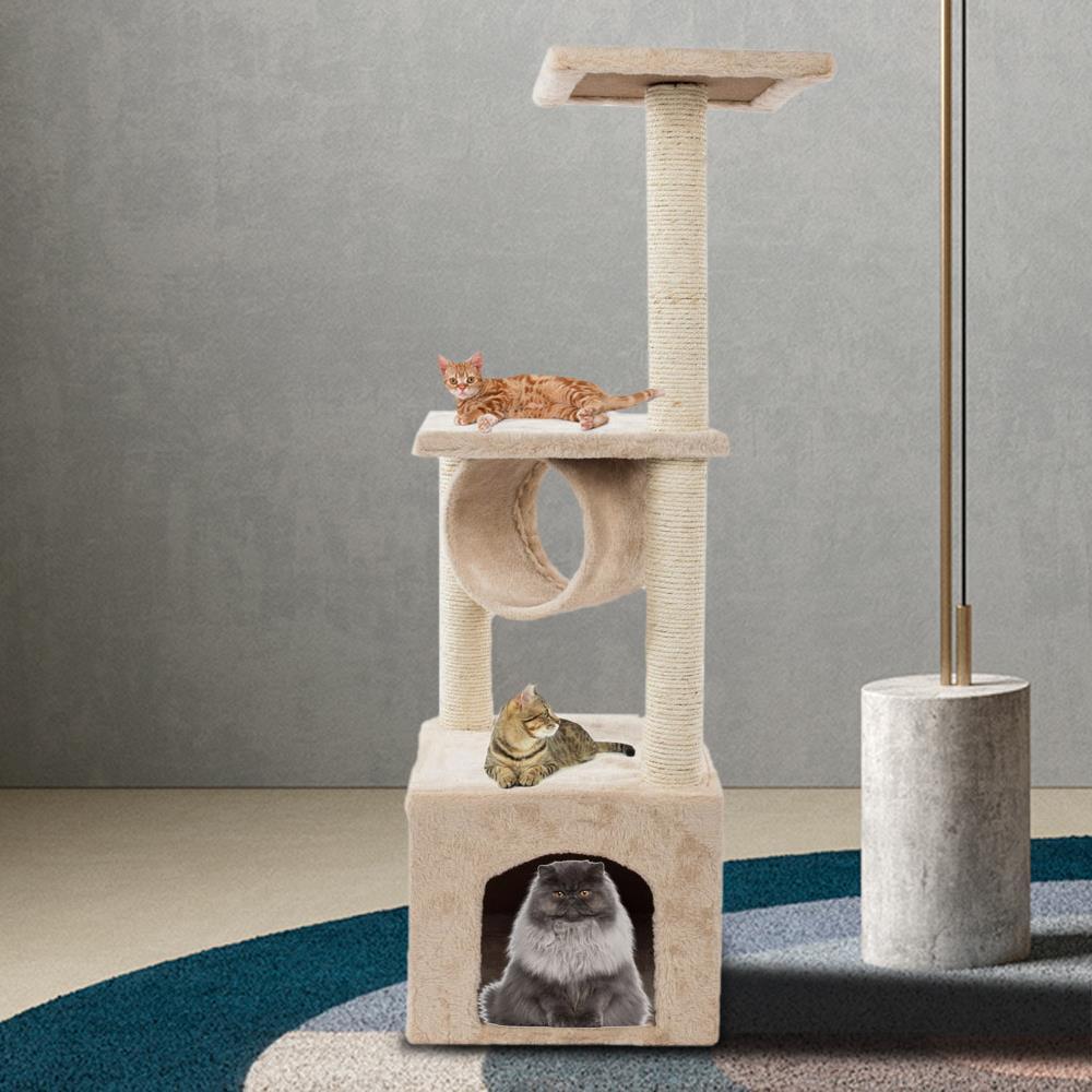 52 36 60 80 Cat Tree Tower Furniture Scratching Post Pet Cat Kitten Play House Ebay