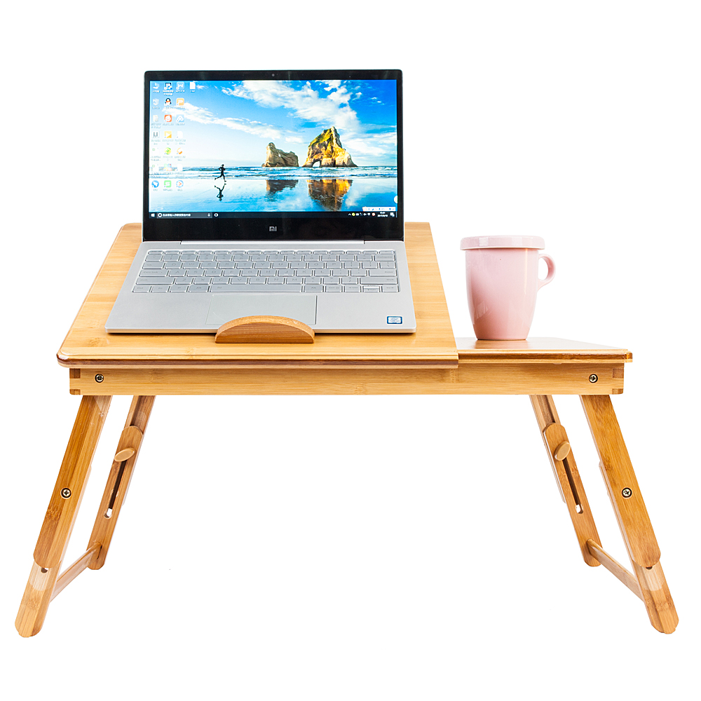 - Bamboo Portable Folding Laptop Computer Notebook Table Bed Desk