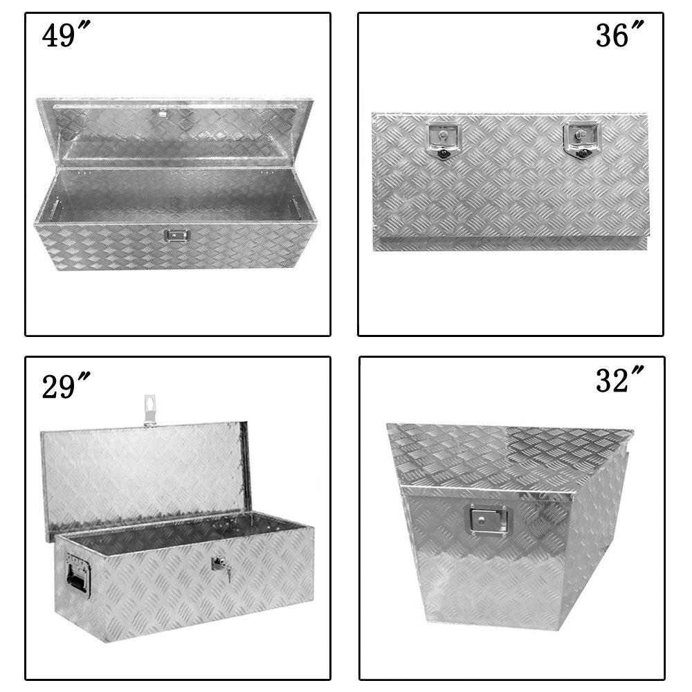 "36/""x16/""x18/"" Silver Aluminum Truck Bed Camper Storage Tool Box Trailer// RV//Pickup"