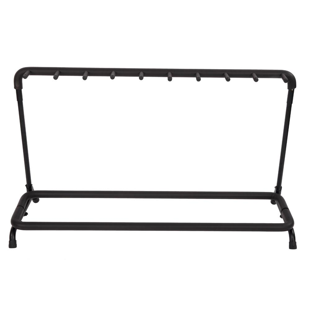 New Round Tube 9 Folding Multi Guitar Holder Rack Stand