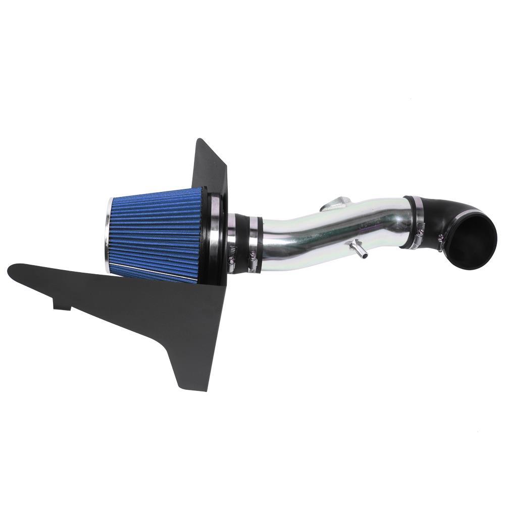 For 10-15 Camaro V8 6.2L Cold Air Intake Induction Kit Heat Shield Black Piping