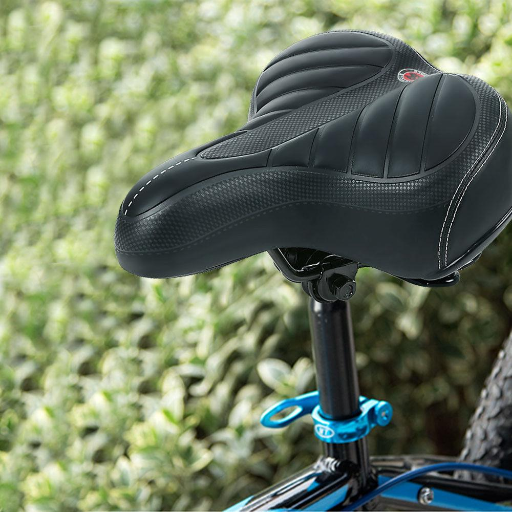 Bike Bicycle Seat Extra Comfort Wide Big Thicken Cruiser Sporty Soft Saddle Road