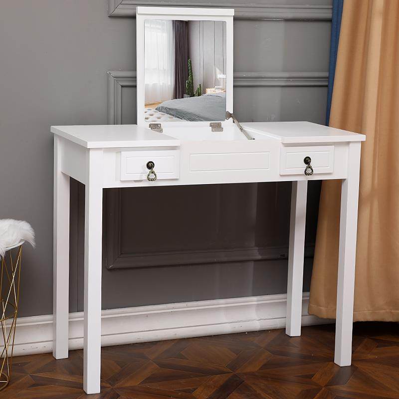 Vanity Set Make Up Dressing Table W Flip Top Mirror And Cushioned Storage Stool Ebay