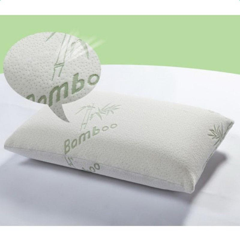 1 PCS Premium Firm Hypoallergenic Bamboo Fiber Memory Foam Pillow Queen