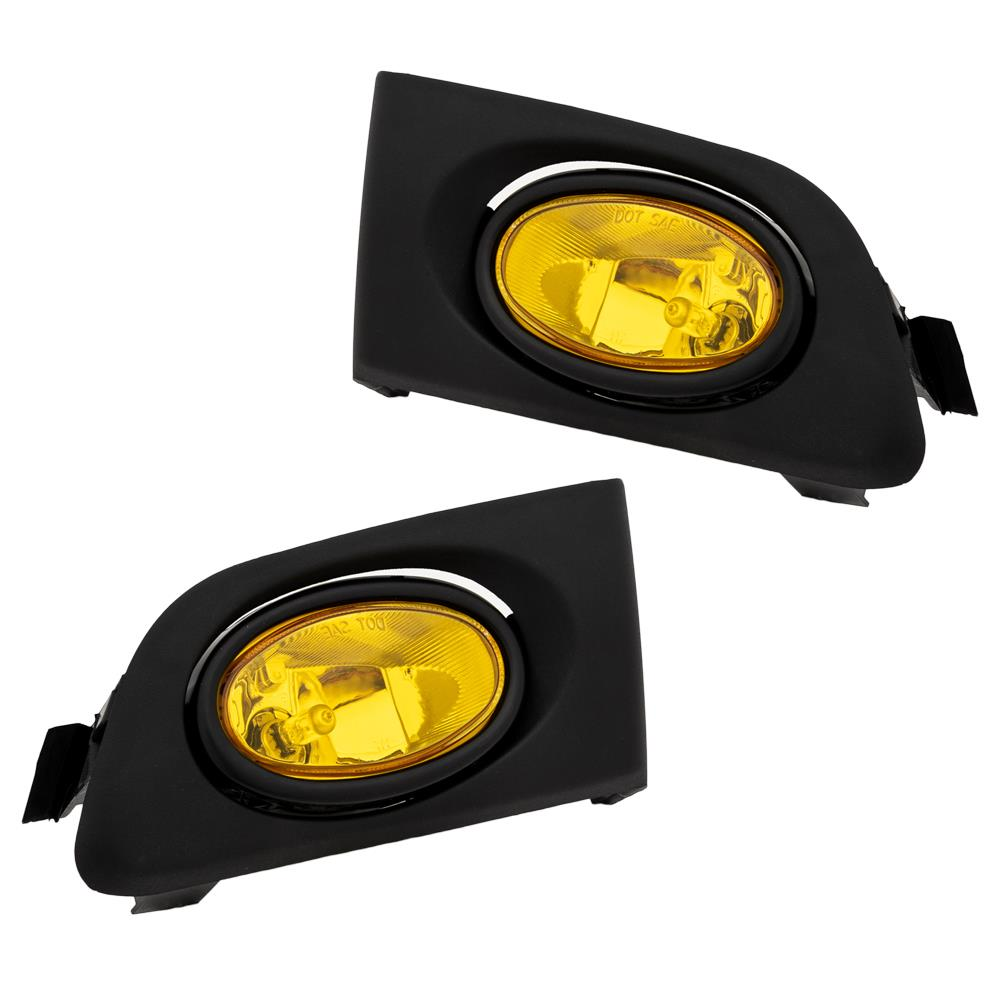For Honda Civic 01-03 Yellow Lens Pair Bumper Fog Light Lamp+Wiring+Switch Kit
