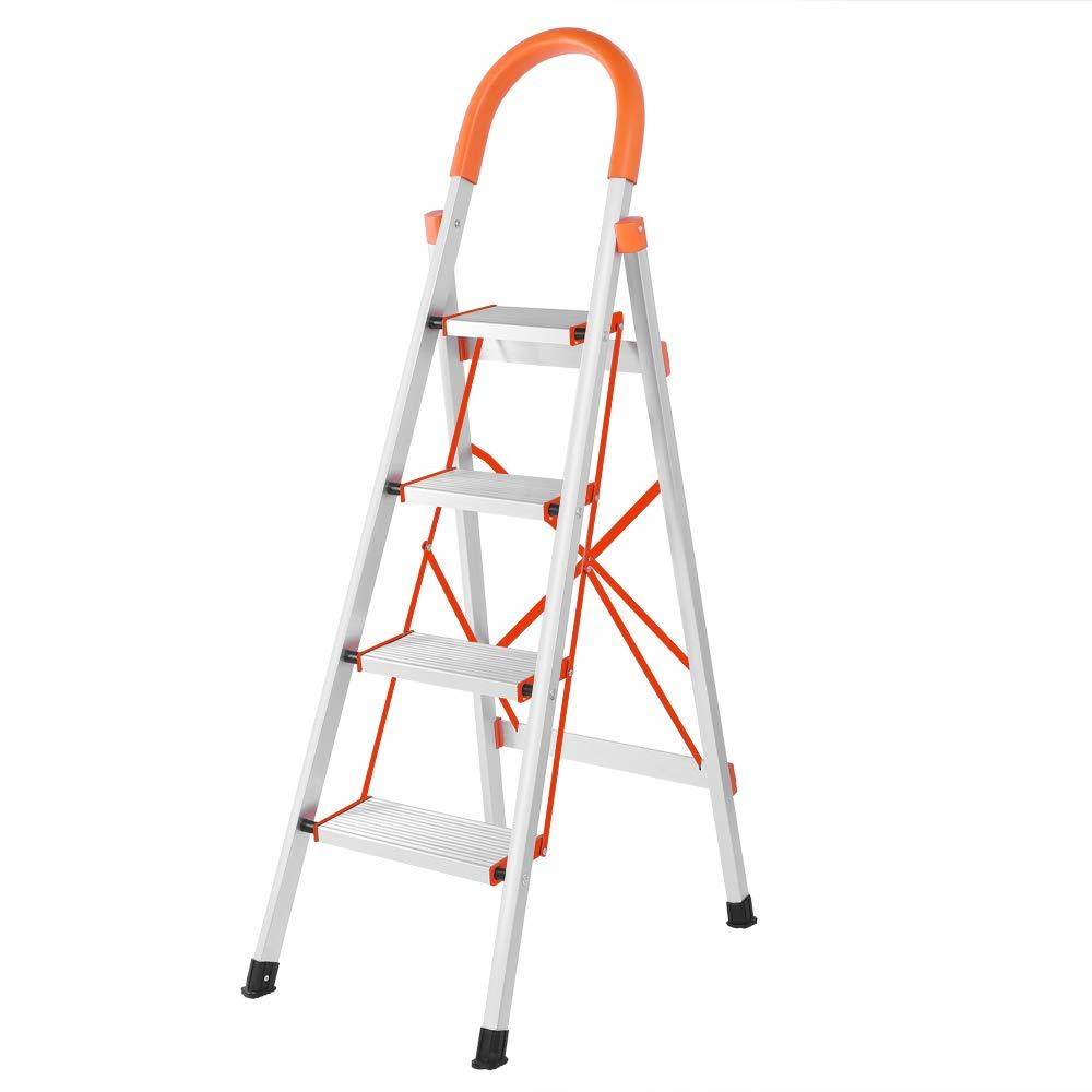 Terrific Details About Portable 4 Step Ladder Folding Step Stool Stepladders Aluminum Lightweight 330Lb Pabps2019 Chair Design Images Pabps2019Com