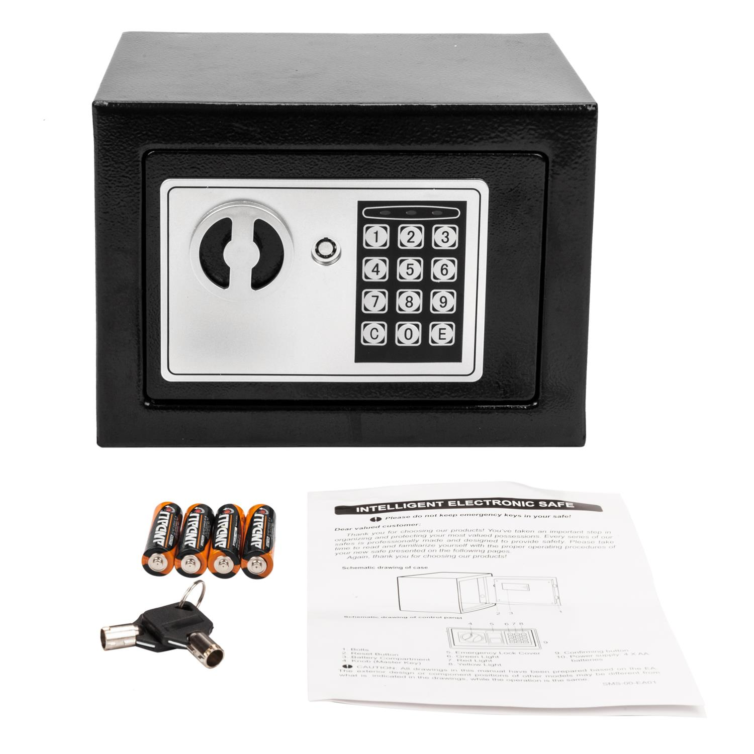 Small Depository Drop Safe /& Lock Box with Electronic Keypad for Home Hotel, Digital Security Safe Box 9.06x 6.69 x 6.69 Black