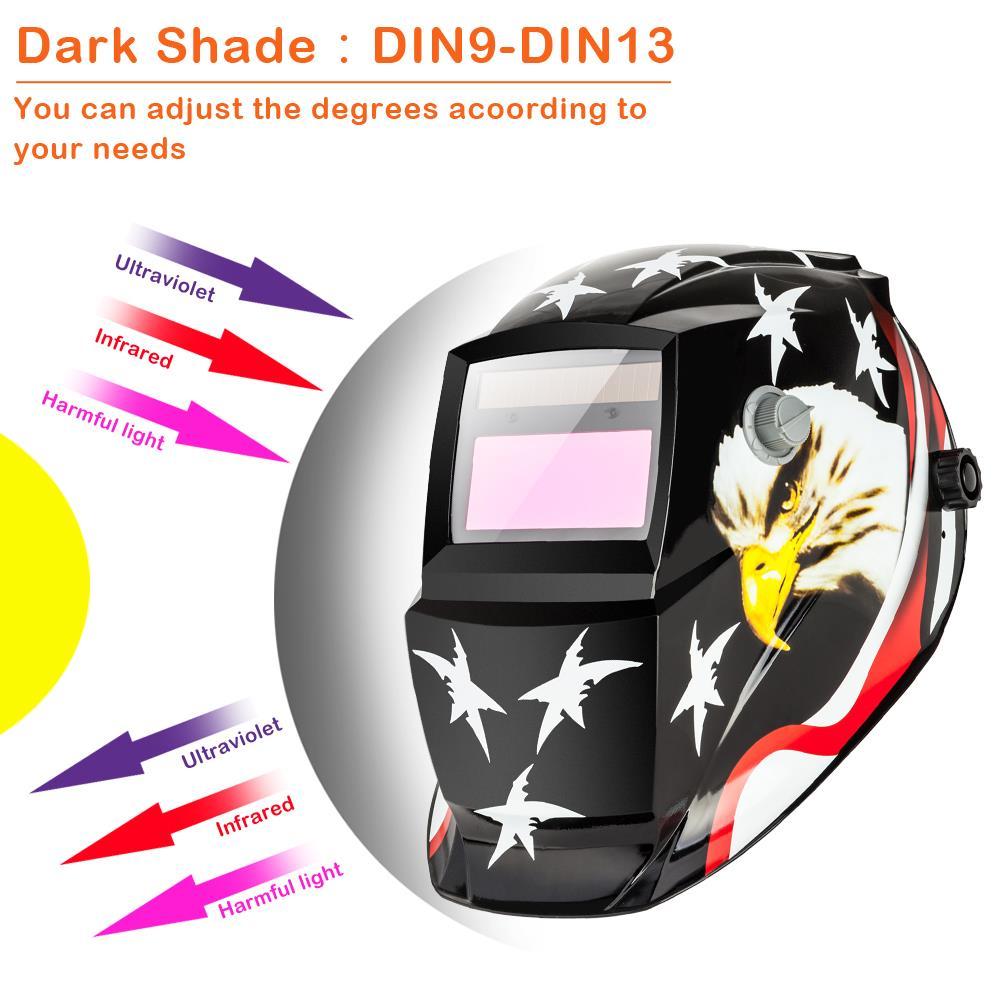 2 Lens Pro Solar Automatic Welding Helmet Grinding Welder Mask Protective Hood