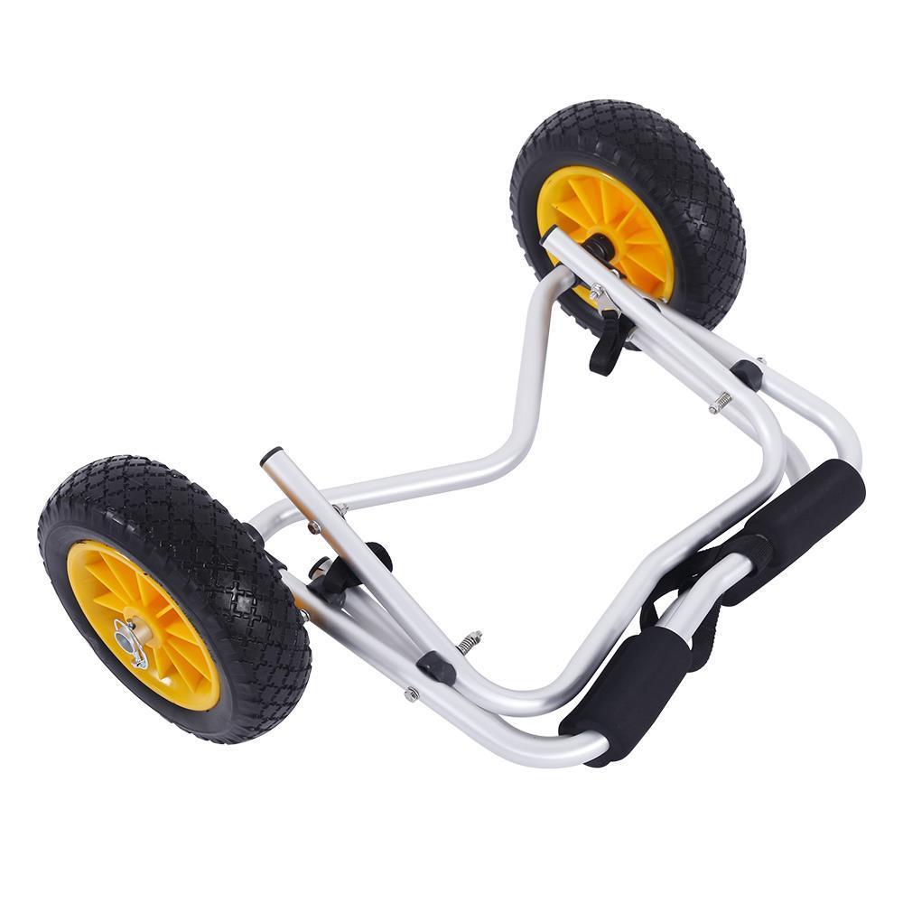 CORESTONE New Aluminum Kayak Jon Boat Canoe Gear Dolly Cart Trailer Carrier Trolley Wheels