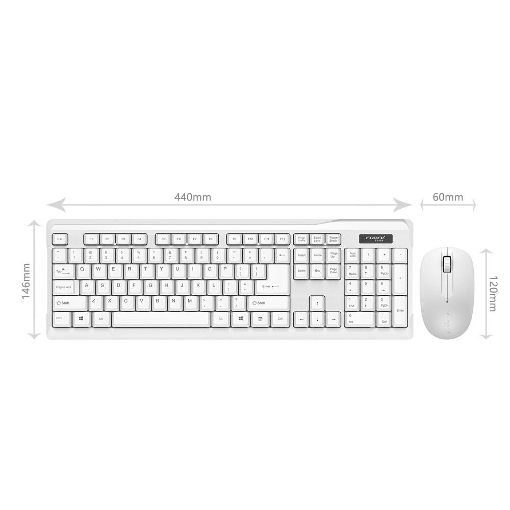 2.4GHz Slim USB Wireless Gaming Keyboard And DPI Mouse Set For Laptop PC Desktop