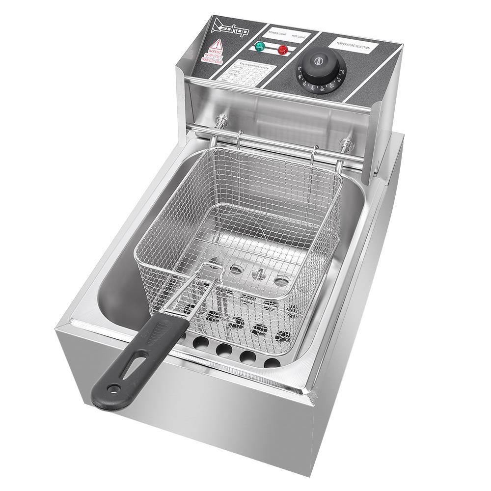 2500W 6L 6.3QT Electric Deep Fryer Commercial Tabletop Restaurant Fry Basket US