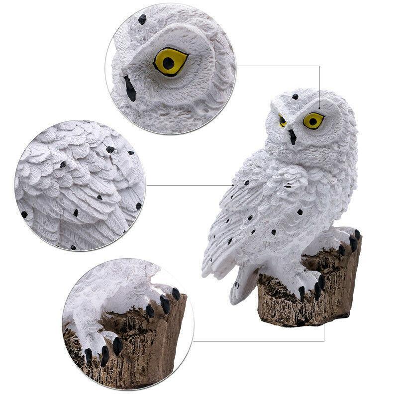 Solar Garden Lights Owl Ornament Animal Bird Outdoor LED Decor Sculpture neu