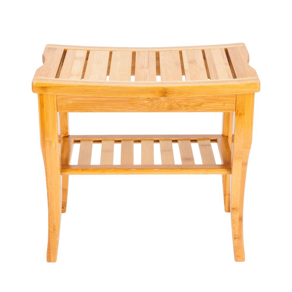 Groovy Details About Bathroom Shower Bench Teak With Shelf Wood Sauna Bath Spa Seat Stool Furniture Inzonedesignstudio Interior Chair Design Inzonedesignstudiocom