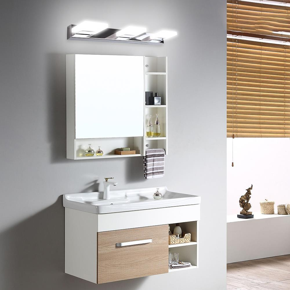 Details about 9-9 Lights Modern Bathroom Wall Makeup Light Mirror Front LED  Lighting Fixtures