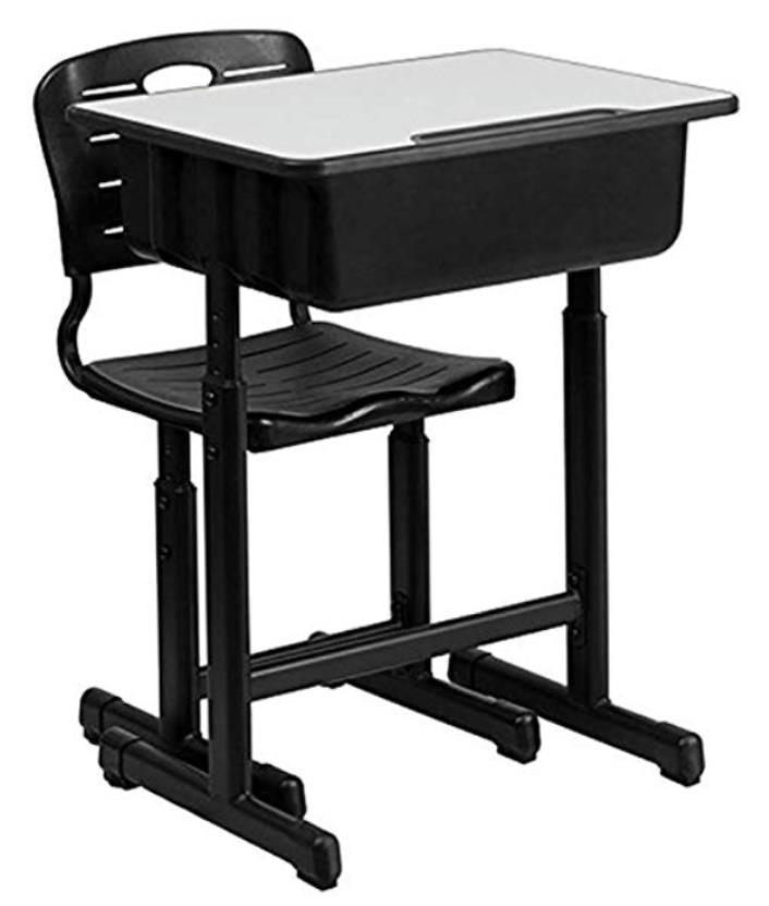 Hot Student Kid Desk and Chair Set Kid/'s Study /& Play Table Adjustable 4 Color