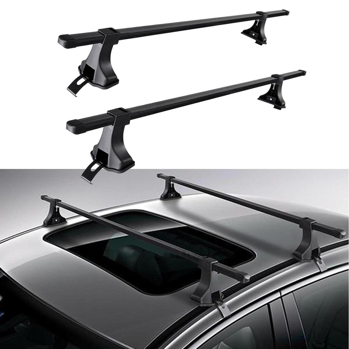 "Universal 36/""-39/"" Car Top Rack Aluminum Cross Bar Roof Cargo Luggage Rack Frame"