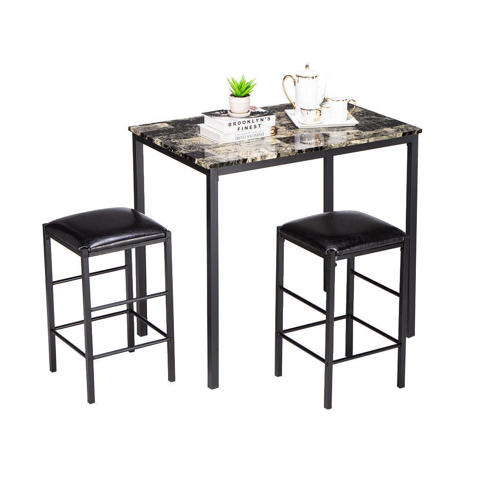 HOT 9 Stück Esstisch Set Counter Höhe Tisch 9 Stühle Küche ...
