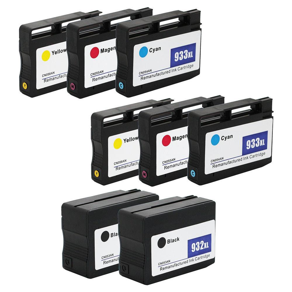 10PK HP 932 XL 933 XL Ink Cartridge for HP Officejet 6100 6700 6600 7100 /& More