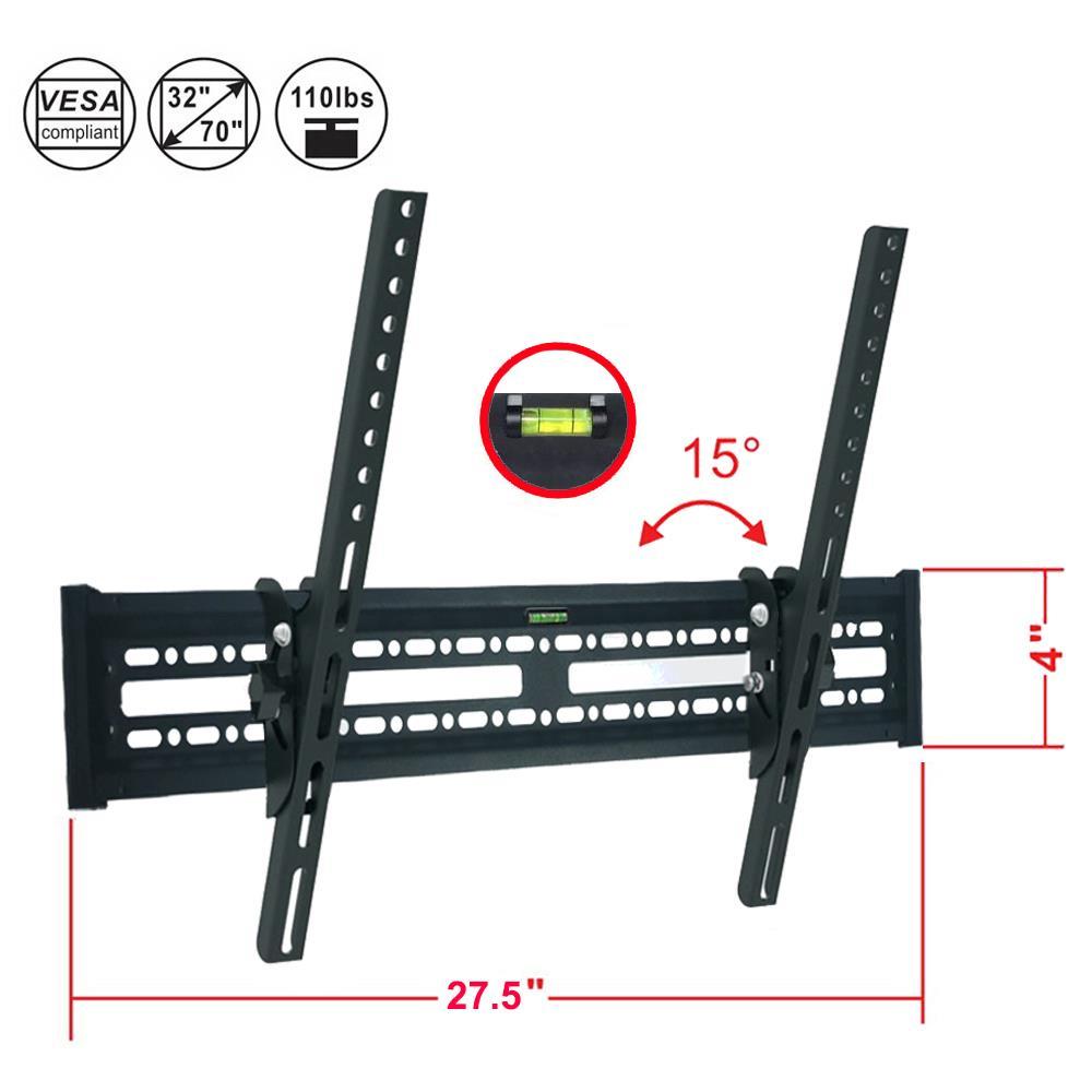"2PCS LCD LED Plasma Flat TV Wall Mount Bracket 32 37 42 47 50 52 55 60 65 70/"""