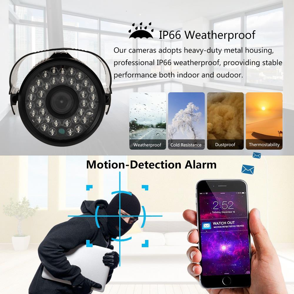 Hodely 8CH 720p Wireless DVR kit Waterproof IP Wifi Camera Home Security System