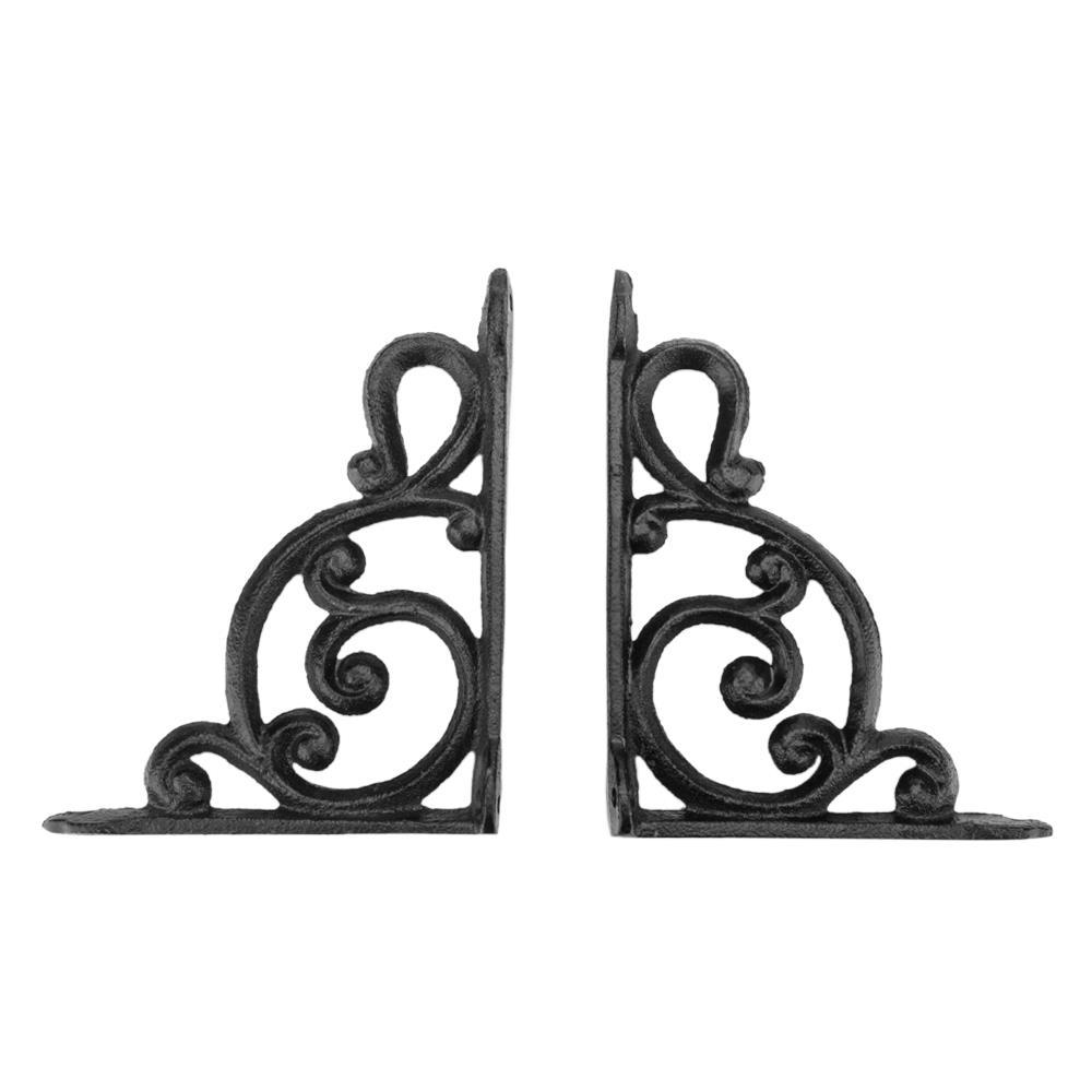 SET OF 2 LARGE HUMMINGBIRD SHELF BRACKET BRACE Rustic Antique Brown Cast Iron