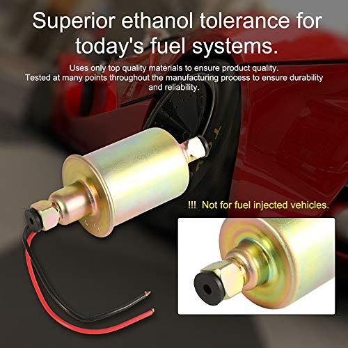 E8012S Universal Electric Fuel Pump Gas Diesel Carbureted With Installation Kits