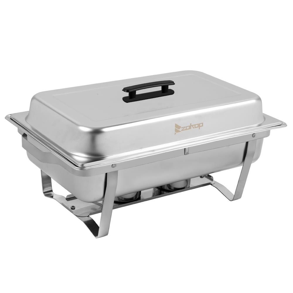 2Pack 1//3 Size Stainless Steel Chafer Chafing Dish Sets 9L Christmas Praty 2019