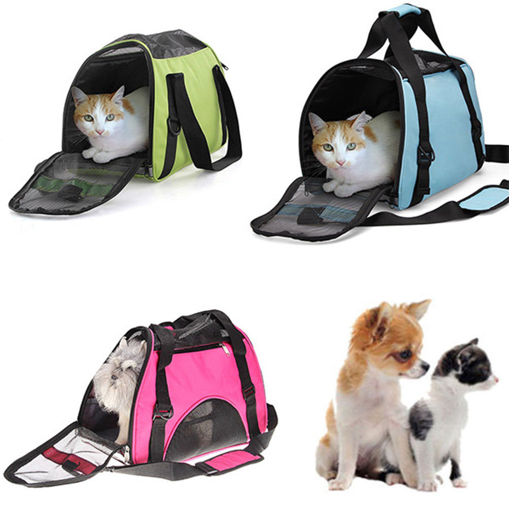 Details about Pet Carrier Dog Cat Tote Travel Carry Carry Bag Handbag Small Animals 3 Color