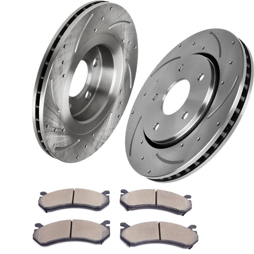 Rotors w//Ceramic Pads OE Brakes Rear 1998-2002 Accord 98-99 CL