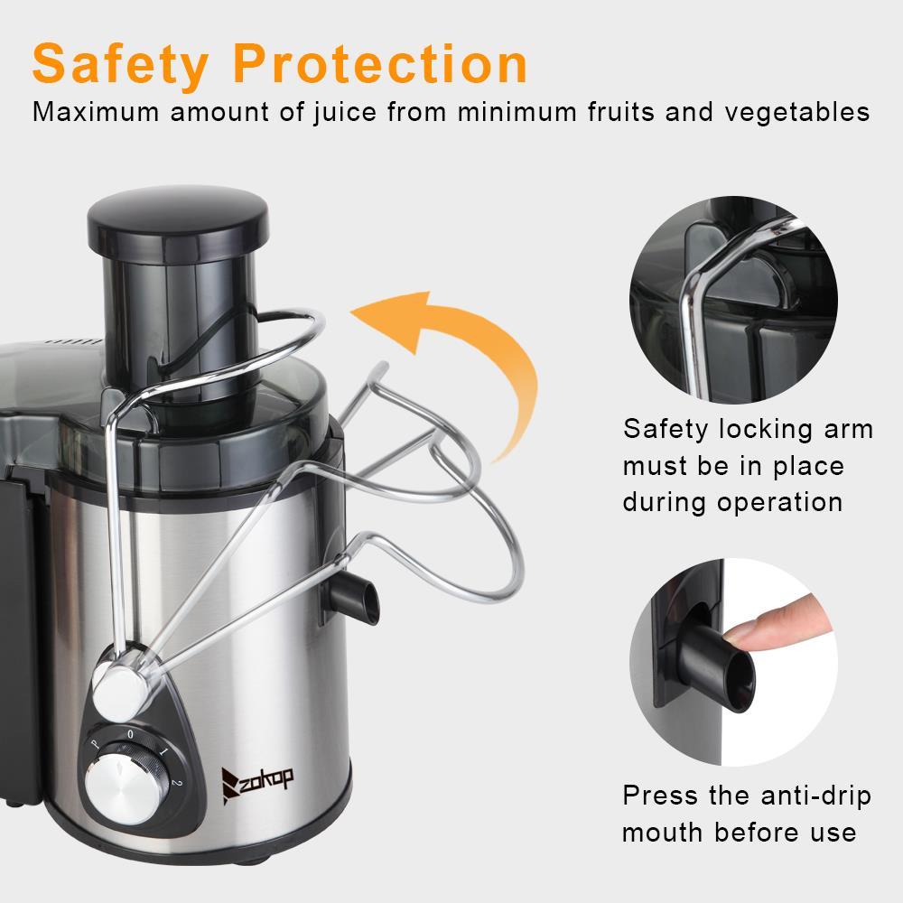 800W 110V Home Use Multi-Function Electric Juicer US Plug Black ...