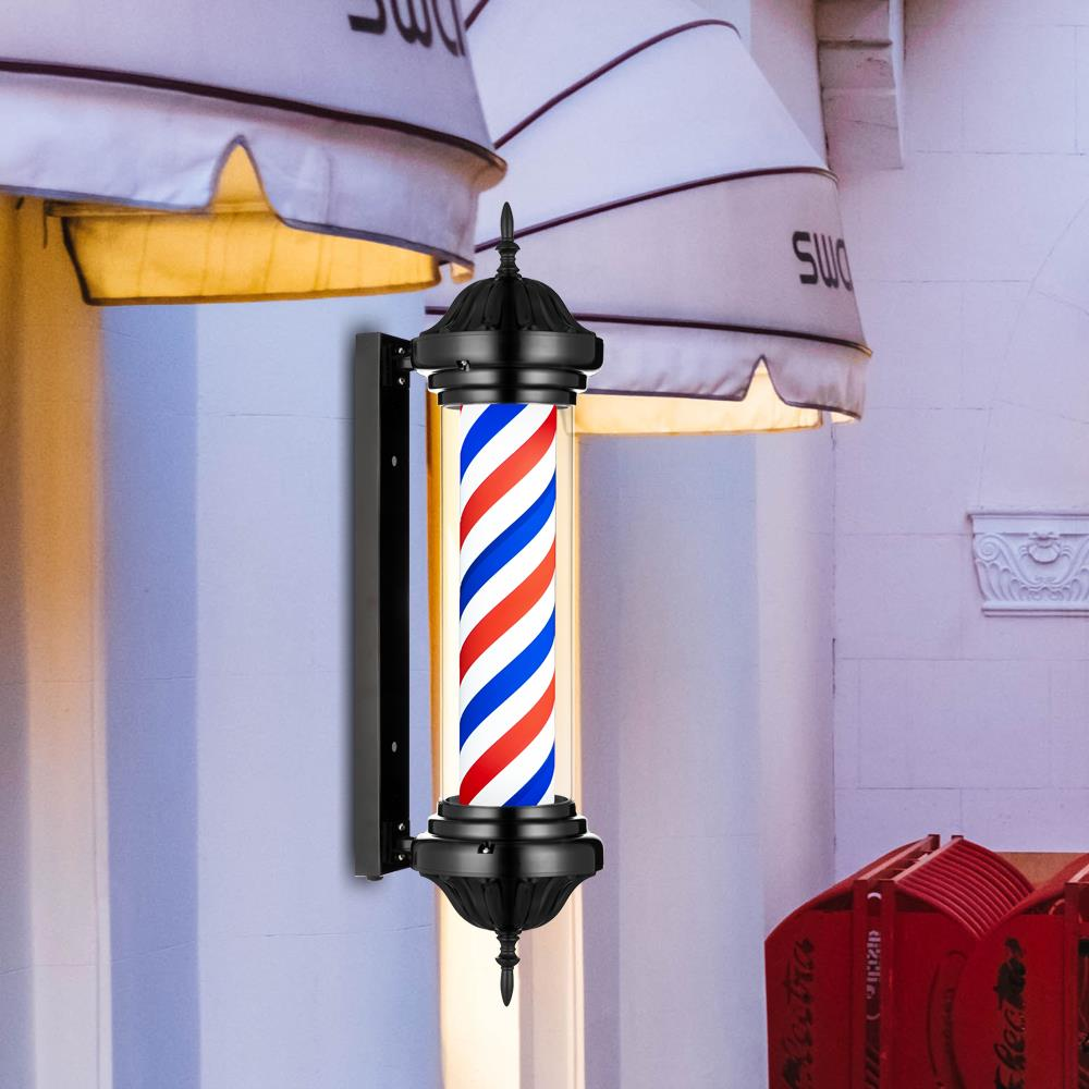 Color : A DSFX Barbershop Pole Traditional Barber Pole LED Retro Color Barber Pole LED Stripe Blue Red White Barber Salon Salon Equipment Lighting Waterproof Sign Lamp