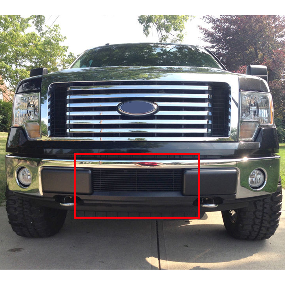 Compatible with 2015-2017 Ford F-150 All Model Lower Bumper Billet Grille Insert N19-A31366F