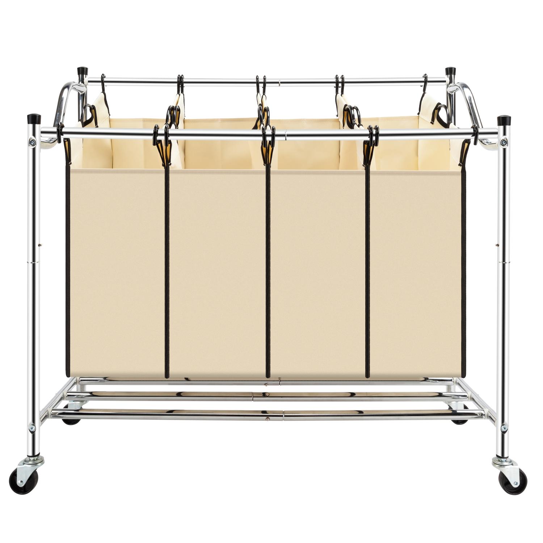Rolling Laundry Hamper Sorter Cart Clothes Bathroom ...