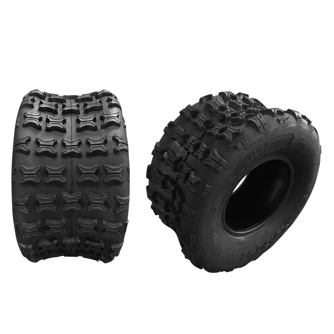 Motorhot 2 PCS 18X9.5-8 ATV UTV Tires Sport Cross Country Left Right Rear Tires for Go Karts 4-PLY P316