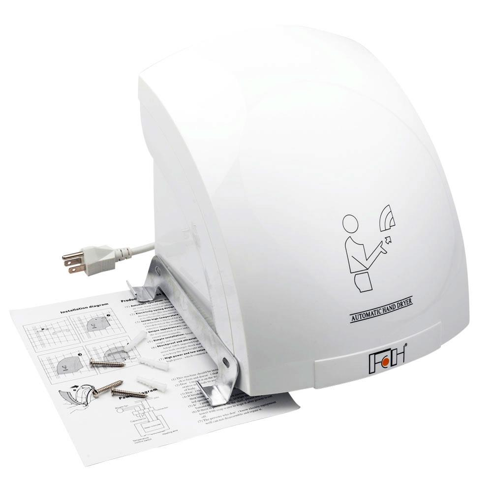 New Portable Waterproof Automatic Hand Dryer White for bathroom /& home US
