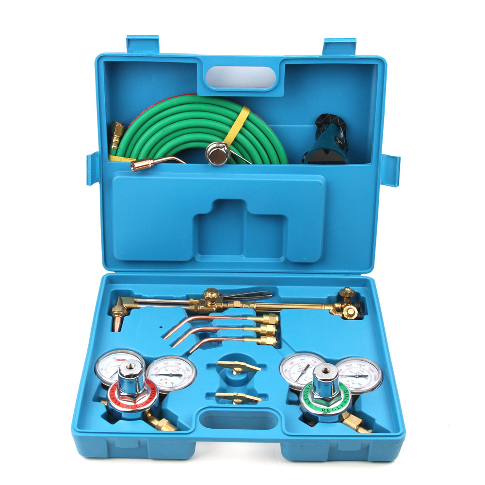 Case NEW Gas Welding Cutting Welder Kit Oxy Acetylene Oxygen Torch with Hose