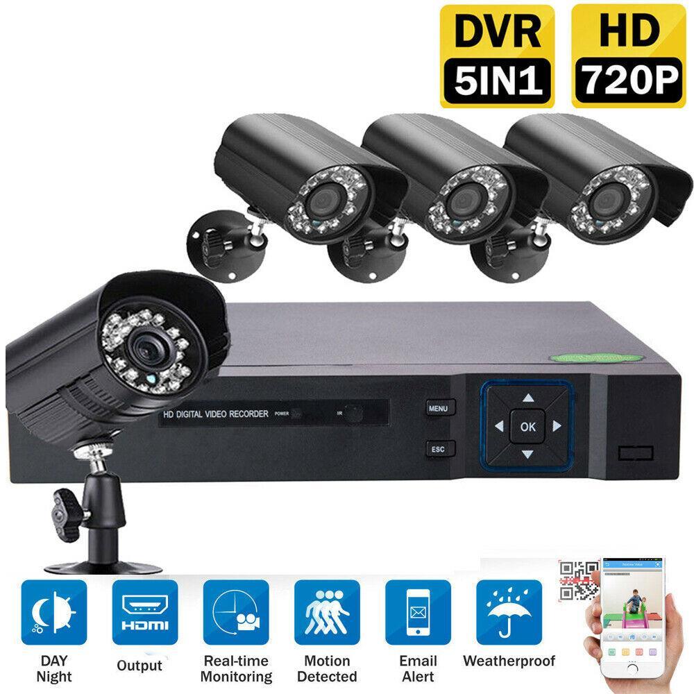 8CH 5ini 1080N DVR IR Night Vision 720P CCTV Bullet Camera Home Security System