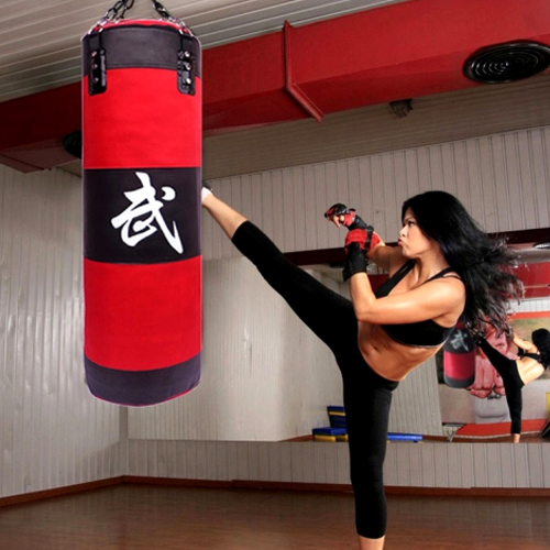 """Heavy Boxing Punching Bag 39/"""" Speed Training Kicking MMA Workout W// Chain Hook"""