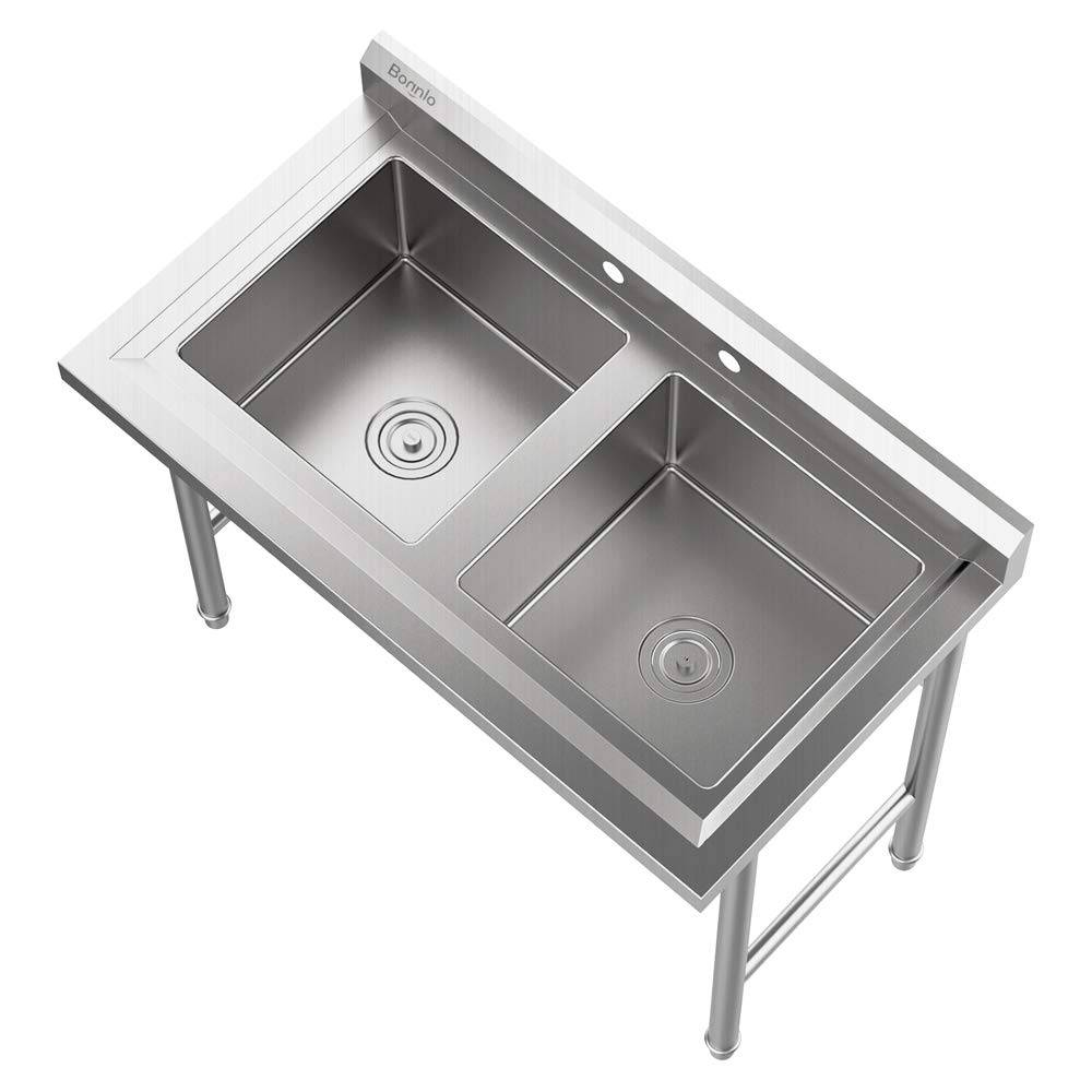 new commercial sink 2 compartment utility sink for garage
