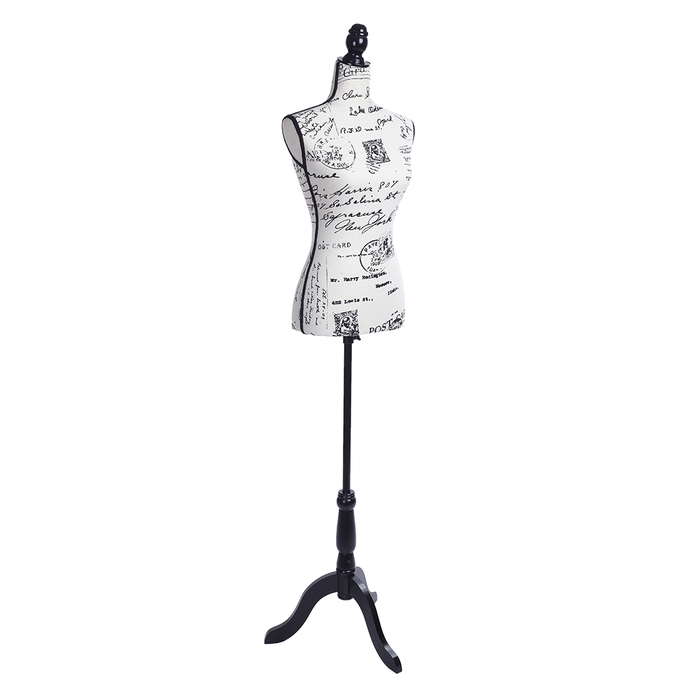 Female Mannequin Torso Dress Form Display Body With Tripod Stand Black Letters Ebay