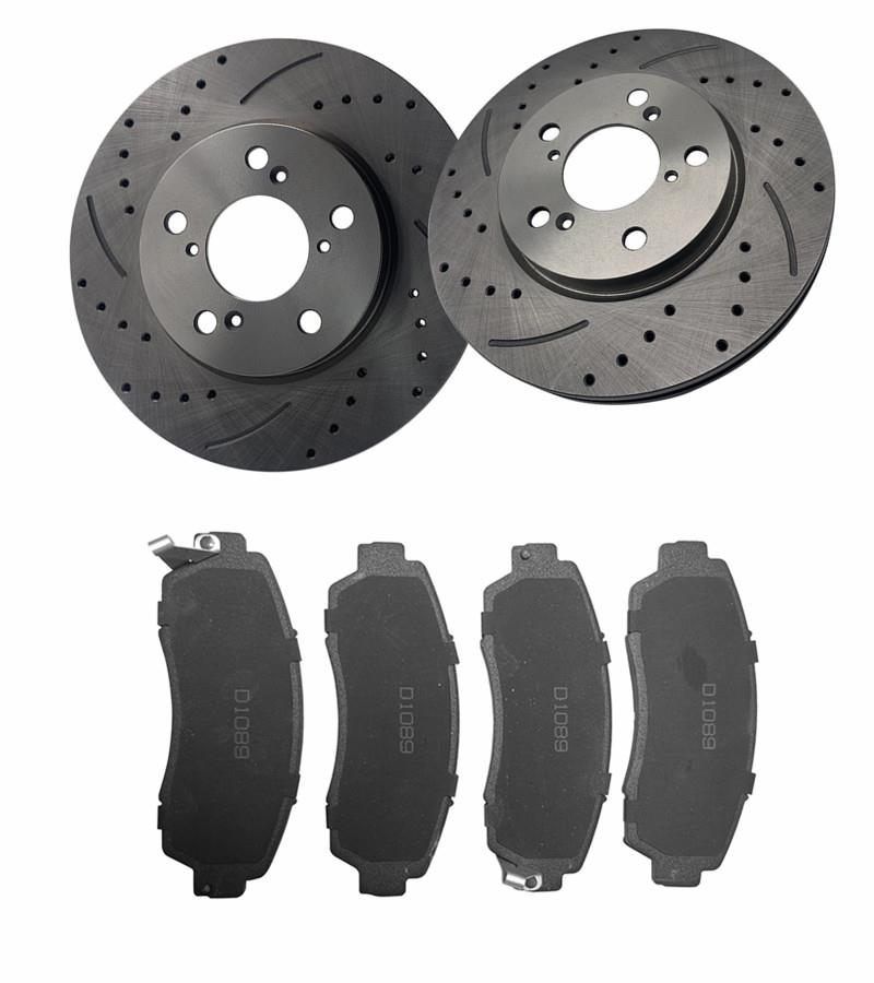 Front /& Rear Ceramic Brake Pads For Honda Odyssey 2005-2006-2007-2008-2009-2010