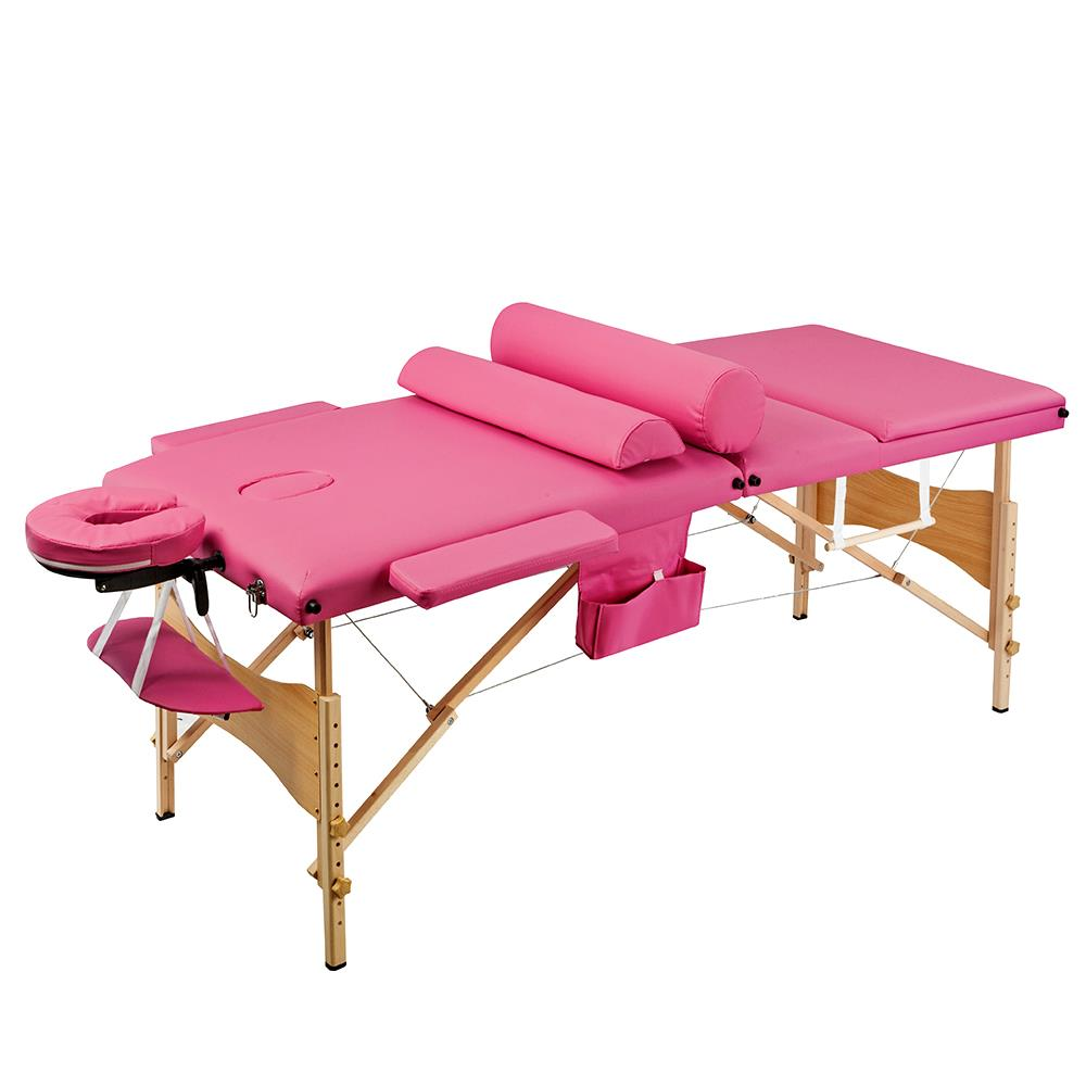 Hot 84\u0026quot;L Fold Portable Massage Table Bed Tattoo Facial SPA Beauty Supplies Pink   eBay