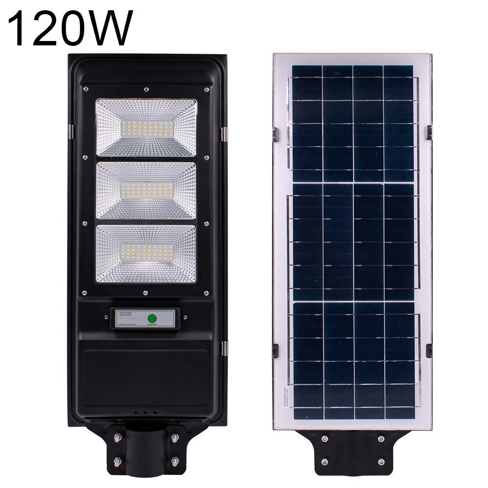 60//90W 120//180LED Solar Street Wall Light Radar Induction Outdoor Lamp+Remote